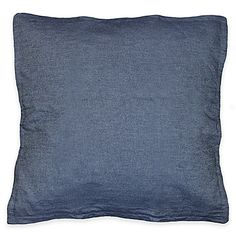 Demi Denim Square Throw Pillow in Navy