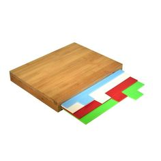 Sada 4 krájecích prkének s bambusovým pouzdrem JOCCA Cutting Boards, Flat, Bamboo, Bass, Cutting Board, Chopping Boards, Flat Shoes