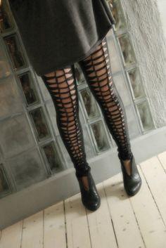 DIY wowen latex leggins