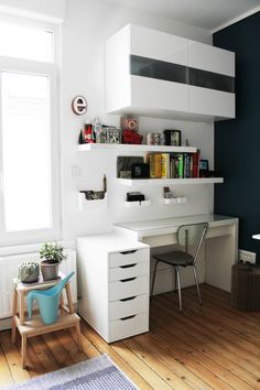 Nice working space http://www.designsponge.com/2014/11/starting-from-scratch-in-france.html