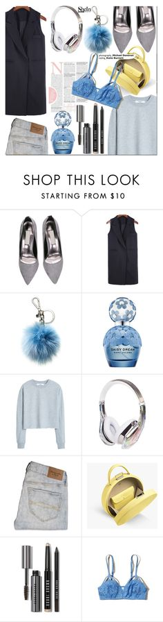"""""""Touch of blue"""" by nastya-d ❤ liked on Polyvore featuring Michael Kors, Marc Jacobs, MANGO, Abercrombie & Fitch, Bobbi Brown Cosmetics and Hollister Co."""