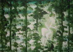 Pierluigi Pusole, Experiment, 2011, Acrylic and watercolour on canvas, 50 x 70 cm