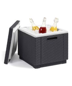 Outdoor ottoman table that becomes a cooler!