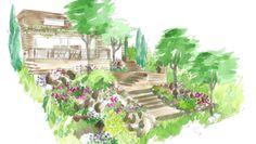 Conseils de paysagiste : un jardin en pente