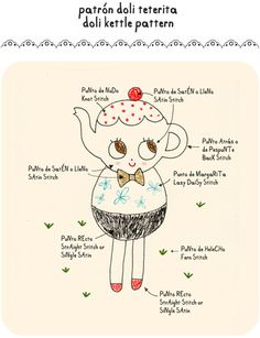 misako mimoko: Patrón bordado nº1 Doli Kettle
