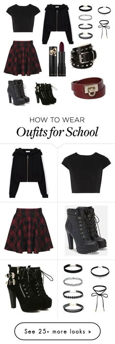 """""""other outfit"""" by kassandra-cdxv on Polyvore featuring Alice + Olivia, JustFab, Barbara Bui and Salvatore Ferragamo"""