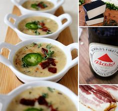 Brown Ale, Bacon and Cheddar Soup