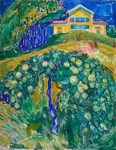 """""""Apple Tree in the Garden"""" - Edvard Munch"""