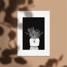 Affiche 50 x 70 cm - Dessin Femme - Bouquet de Fleur - Illustration réalisé à la main - Edition à tirage limité et numéroté - monocotylédone Illustrations, Illustration Art, Vegetable Illustration, The Draw, Woman Drawing, Poster On, Concept, Invitations, Art Prints