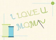 Mixbook Stitched With Love Mother's Day Cards