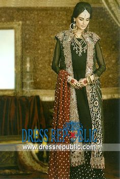 Dark Green Sprint, Product code: DR9756, by www.dressrepublic.com - Keywords: Heavy Formal Pakistani Fashion in 2013, Heavy Formal Drseses in 2013 Pakistan Lehenga Fashion