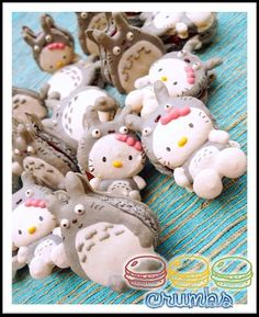 Its Hello Kitty X Totoro macaron