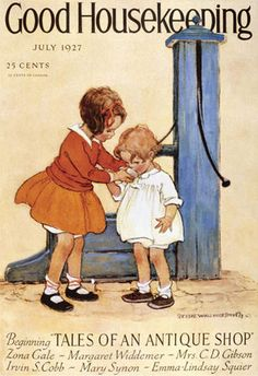 Good Housekeeping Copyright 1927 Kids At The Fountain