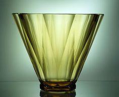 Val St Lambert - Vase EL259 - Design S/481 - Joseph Simon - Pièce créée pour L'Exposition International de Liège 1930.