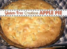Gluten-Free Crustless Apple Pie  I'm thinking this sounds like a yummy and easy pi day treat!