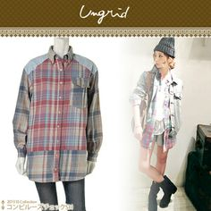 Rakuten: More than 5250 Yen 11 / 5 13:00 far UNGRID アングリッド コンビルーズ check shirt-2013 SS 425601 ladies Women new magazine and blog posting item...