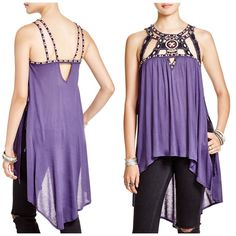 "✳️sale✳️FP ""vision quest"" beaded tunic Brand new extra bead tag still attached open sides with tie knots as seen in photo 3- runs large; My dress forms measurements are: bust 34"", waist 26"", hips 35""  Size 6/8 ""medium"" Free People Tops Tunics"