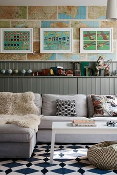 Kids' Living Space - A grand Victorian Country House in Shropshire   Real Homes - on HOUSE by House & Garden. The decor of this house enhances original features combining them with a mid-century twist.