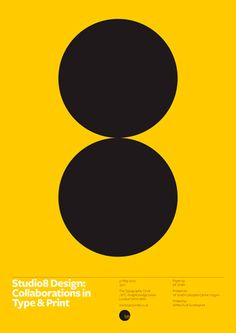 A poster for Studio8's lecture at the Typographic Circle. The talk focussed on collaborations in type and print.