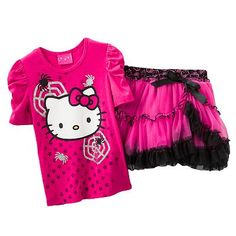 74f01f4ea Hello Kitty Spider Tee and Tiered Scooter Set - Toddler Dress Skirt, Shirt  Dress,