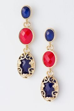 Blue Seraphine Earrings on Emma Stine Limited VIP