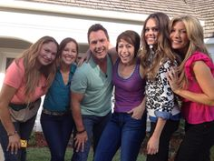 Shirley Bovshow and expert guests for Home and Family Show. With Mark Steines