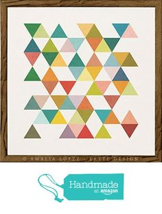 Triangles 3. Geometric print by Latte Design from Latte Design http://www.amazon.com/dp/B0162UF8EE/ref=hnd_sw_r_pi_dp_KSjwwb1YYZ6VV #handmadeatamazon