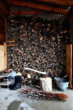 #Firewood wall as backdrop for photo booth