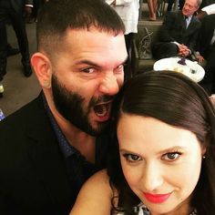 Scandal | Guillermo Díaz (Huck) and Katie Lowes (Quinn)