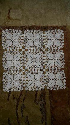 PDF Crochet runner pattern - Home decor - vintage crochet Vintage Crochet Patterns, Crochet Square Patterns, Crochet Blocks, Crochet Diagram, Crochet Squares, Crochet Patterns Amigurumi, Crochet Motif, Crochet Designs, Crochet Doilies