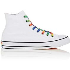 Converse Men's Chuck Taylor All Star Canvas Sneakers ($65) ❤ liked on Polyvore featuring men's fashion, men's shoes, men's sneakers, white, mens high top sneakers, mens hi tops, mens lace up shoes, mens hi top shoes and converse mens shoes
