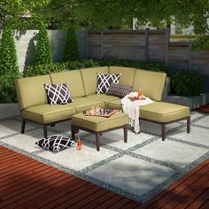 Threshold™ Madison 6-Piece Aluminum Sectional Seating Set | Target. Configurable pieces. Reg. $1199.