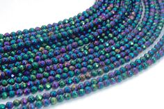grade a quality pyrite faceted beads purple gemstone beads