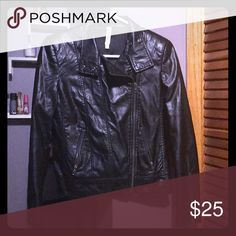 Just in time for fall! Faux leather jacket. This jacket was my go to fall jacket! I loved this jacket. It's still in excellent condition. It's too small for me now! It's a Moto Jacket with pockets. Light weight. Great length. Zipper on sleeves. Purchased from Nordstrom. Mural Jackets & Coats