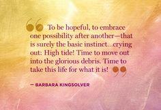 To be hopeful...