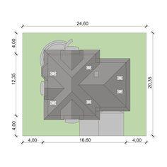 Sytuacja DA Dandys 1 G2 CE Attic, 30th, House Plans, Household, Floor Plans, 1, How To Plan, Architecture, Timor Leste