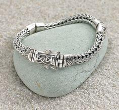 - Dragon-weave Bracelet with Celtic Clasp Keith jack Pandora Jewelry, Charm Jewelry, Celtic Bracelet, Weird Jewelry, Dragon Jewelry, Irish Jewelry, Woven Bracelets, Celtic Designs, Queen