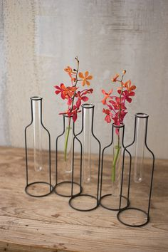 Urban Farmhouse Designs Five Wire Bottle Bud Vases - April 13 2019 at