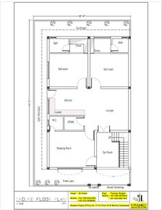 House Plan For 32 Feet By 40 Feet Plot Plot Size 142 Square Yards House Plan Pinterest Yards