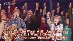 Grace VanderWaal Duet Jason Mraz I'm Yours & I Won't Give Up Opening Cer...