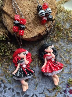 Sweet rockebally skull Fimo doll