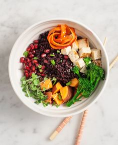 Chili orange veggie bowl