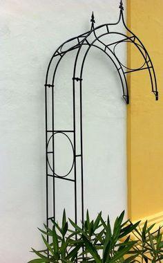Stabiler gartenpavillon aus metall schwarz for Wand rosenbogen metall