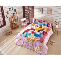 Lotti-poppi.com > günstig Kinderbett 3D Kinder-Bettwäsche original Disney Prinzessin Bedding Girls Bettset billig online kaufen