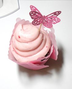 Butterfly cupcake picks. Could my cutter be used on sugar sheets?