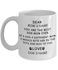 Dog Mom Custom Mug