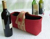 padded wine bottle tote