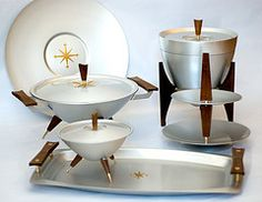 Serving set space age tray