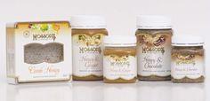 Delicious Gourmet range of honeys - Comb honey, Honey & Ginger, Chocolate Honey http://www.mossopshoney.co.nz/shop/honey.html