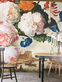 Masterpiece, by Eijffinger. This beautiful floral wallpaper mural takes you into the intriguing world of old masters and exquisite details. Available through Guthrie Bowron stores in New Zealand. Deco Floral, Floral Wall, Wall Murals, Wall Art, Wall Decor, Inspirational Wallpapers, Creative Walls, Wall Wallpaper, Wallpaper Designs